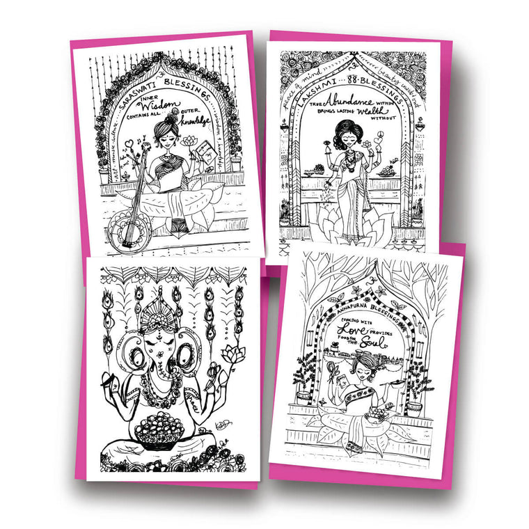 Gods & Goddesses Assorted Notecard Set