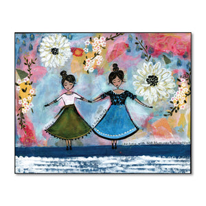 Grace & Gratitude Girls Art Print