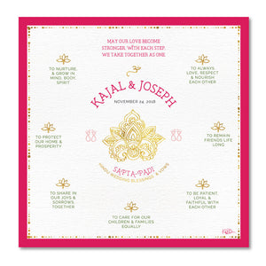 Hindu Wedding Blessings Customizable Print