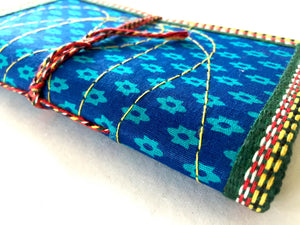 Journal | blue & turquoise print fabric