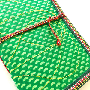 Journal | green fabric