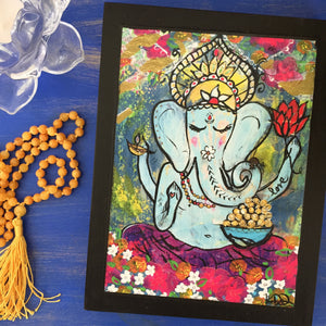 Ganesh Love Woodblock