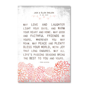 Irish Home & Wedding Blessings Customizable Print