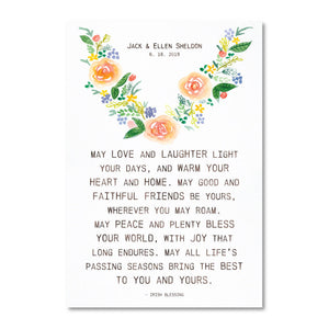 Irish Home & Wedding Blessings - Watercolor - Customizable Print