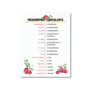 Kitchen Measurements Magnet