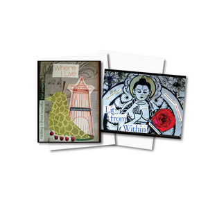 Everyday Collage Notecard Set of 12