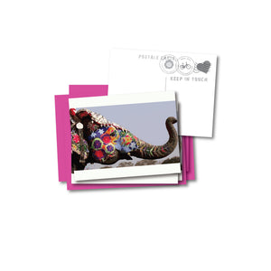 Painted Elephant Notecard Set of 4