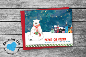 Polar Bear Peace Set of 8