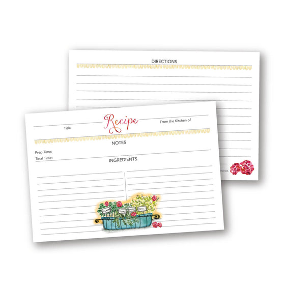 Herb Box Recipe Card Set