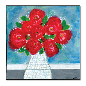 Ruby Red Roses Art Print