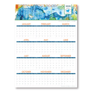 Map Abstract - 2020 Wall Calendar