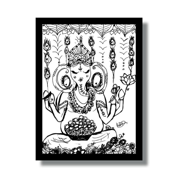 Ganesh Grace Woodblock
