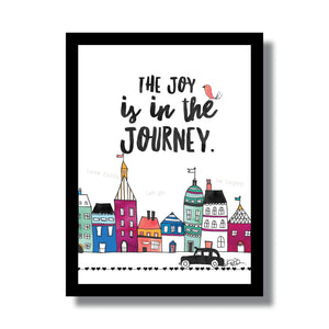 Little City Joy in the Journey Woodblock