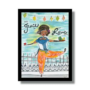 Grace & Love Woodblock