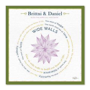 Wide Walls - Home & Wedding Blessings Customizable Print