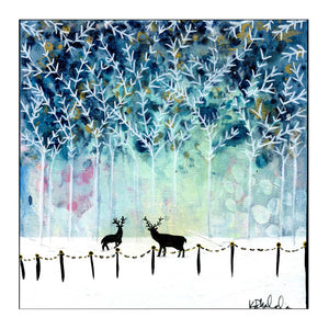 City Winter Wonderland Original Art
