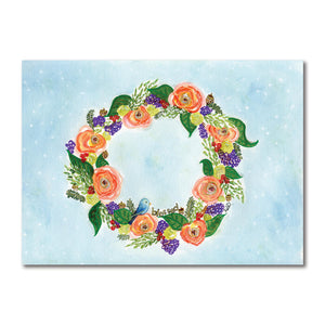 Wreath-blessed Art Print