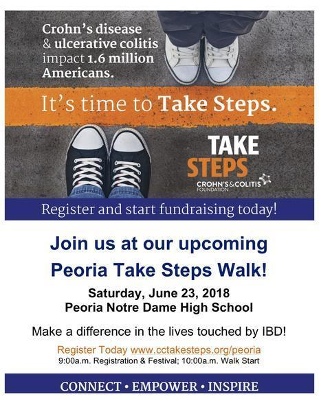 Proud sponsor again for Take Steps Peoria!