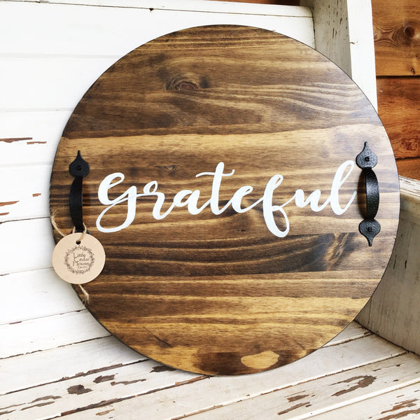 Grateful Wood Serving Tray/lazy Susan