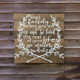 Being a family hand painted wood sign