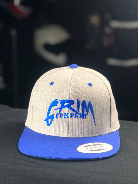 Grim Company SnapBack - Blue on Gray