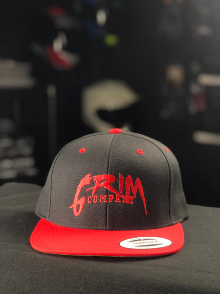 Grim Company SnapBack - Red on Black