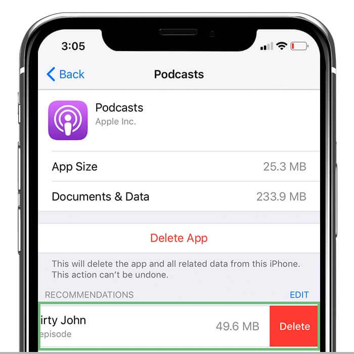 7. Delete Old Podcasts