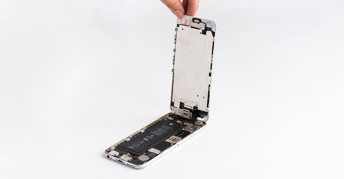 iphone screen detached upright