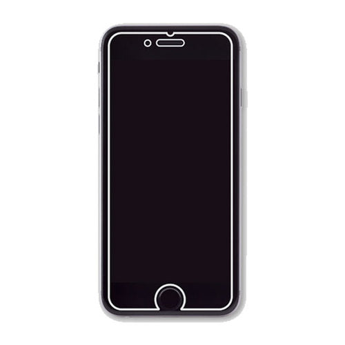 An iPhone screen protector, outlined in white.