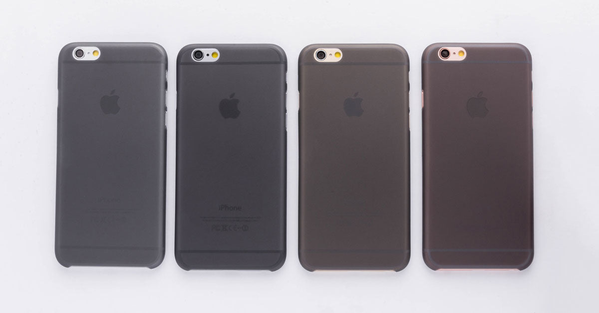 totallee's thin black iPhone case, the Scarf, on the grey, space grey, gold and rose gold iPhones