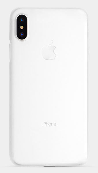 thin white iPhone X case