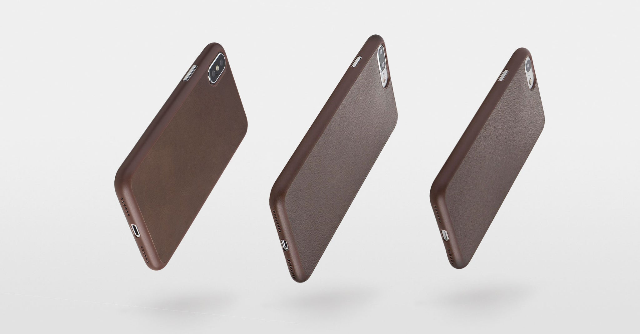 mocha leather iPhone cases
