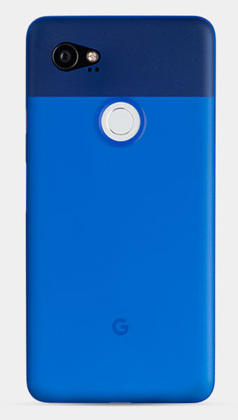 thin blue Pixel 2 XL case