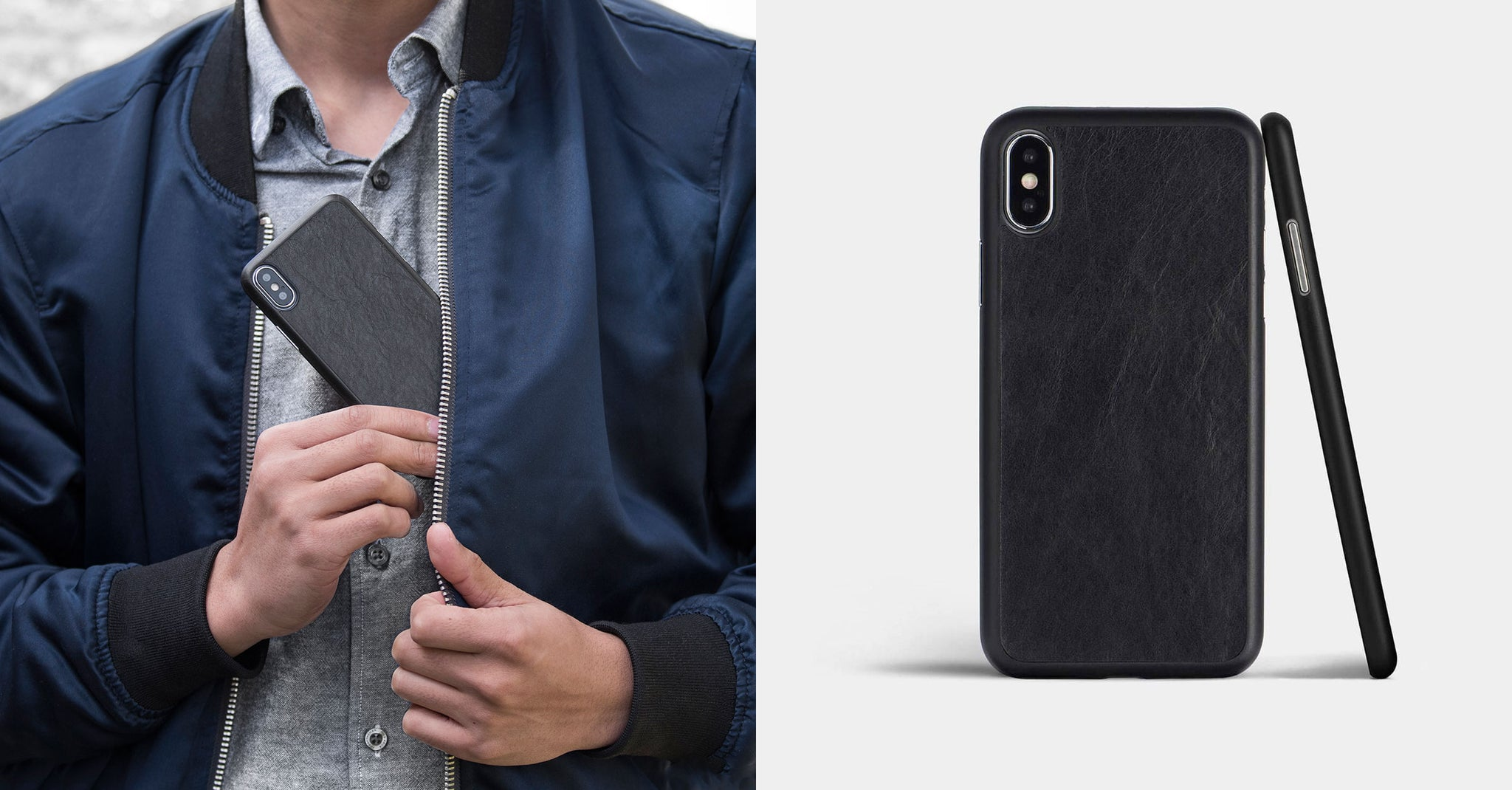 genuine leather iphone X case by totallee