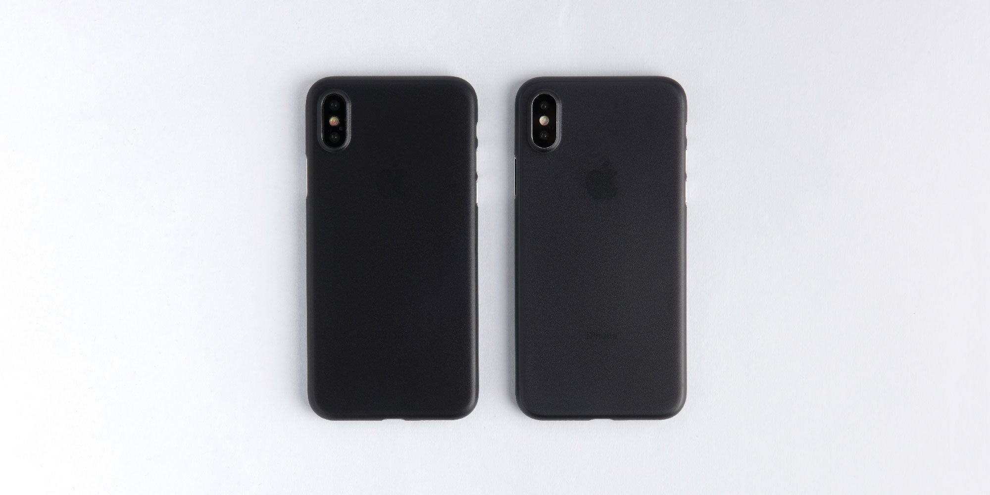 totallee matte black case on silver and space grey iPhone X