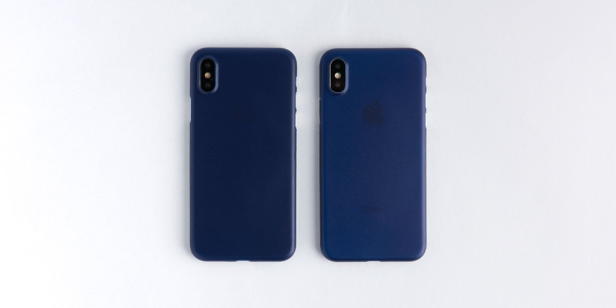 totallee navy blue case on silver and space grey iPhone X