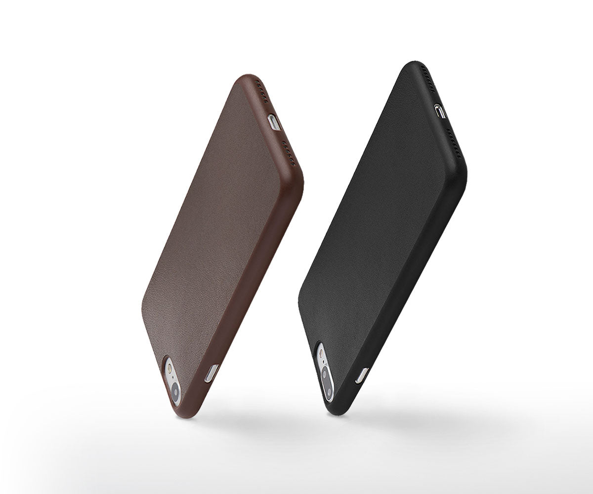 one thin leather iPhone case.
