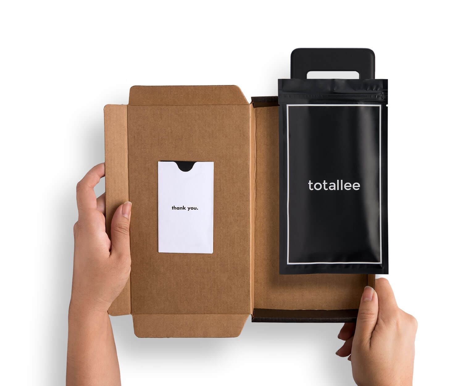Kraft packaging for totallee's thin Galaxy S10 case