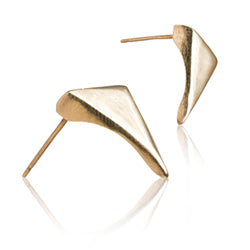 Minimalist gold stud earrings for women