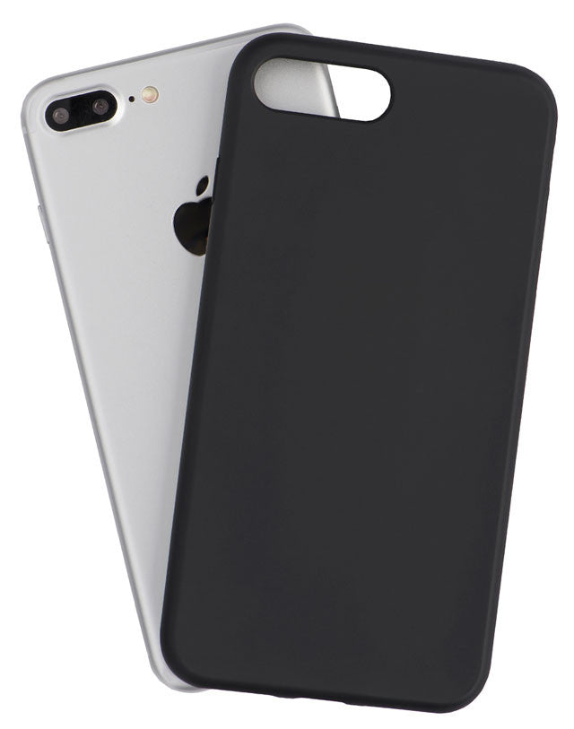 Back view of a black durable and protective iPhone case, made by Totallee