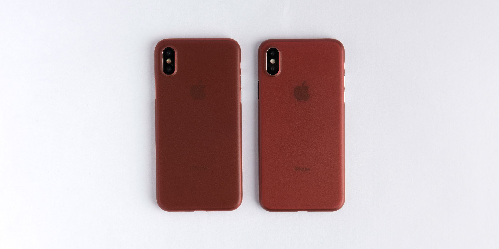 totallee burgundy red case on silver and space grey iPhone X