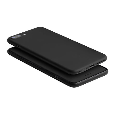 An ultra thin black iPhone 7 Plus case on a black iPhone 7 plus