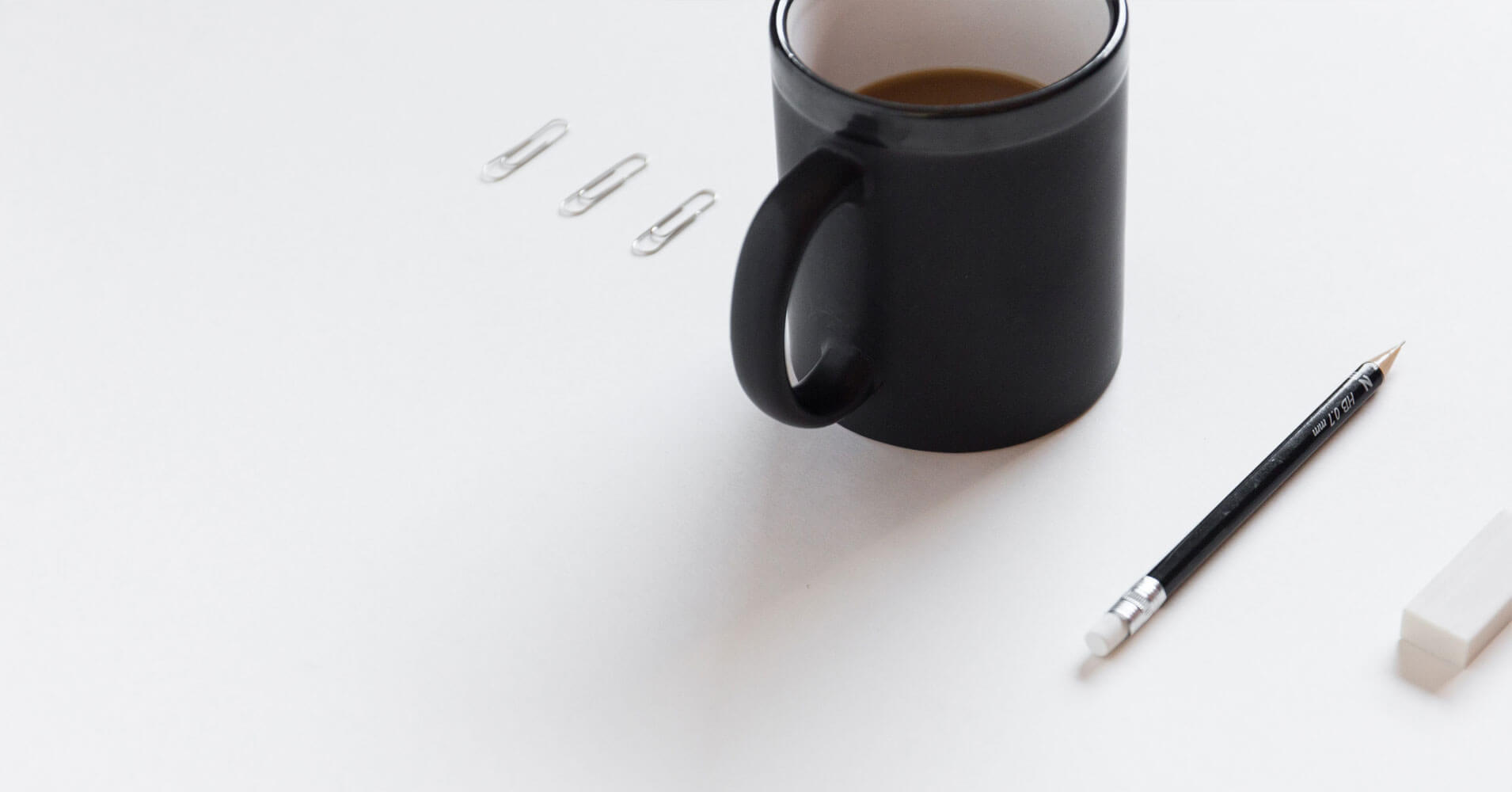 stay organized- paper clip and mug