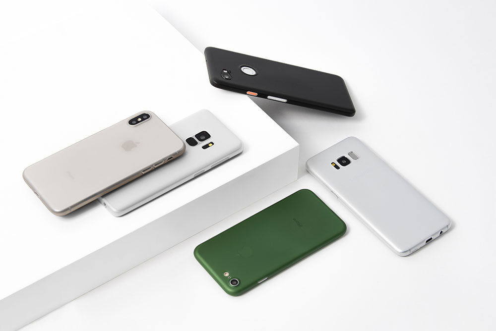 3 hovering thin and minimal phone cases by totallee