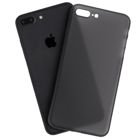 Ultra thin black iPhone 7 plus case on top of iPhone 7 Plus