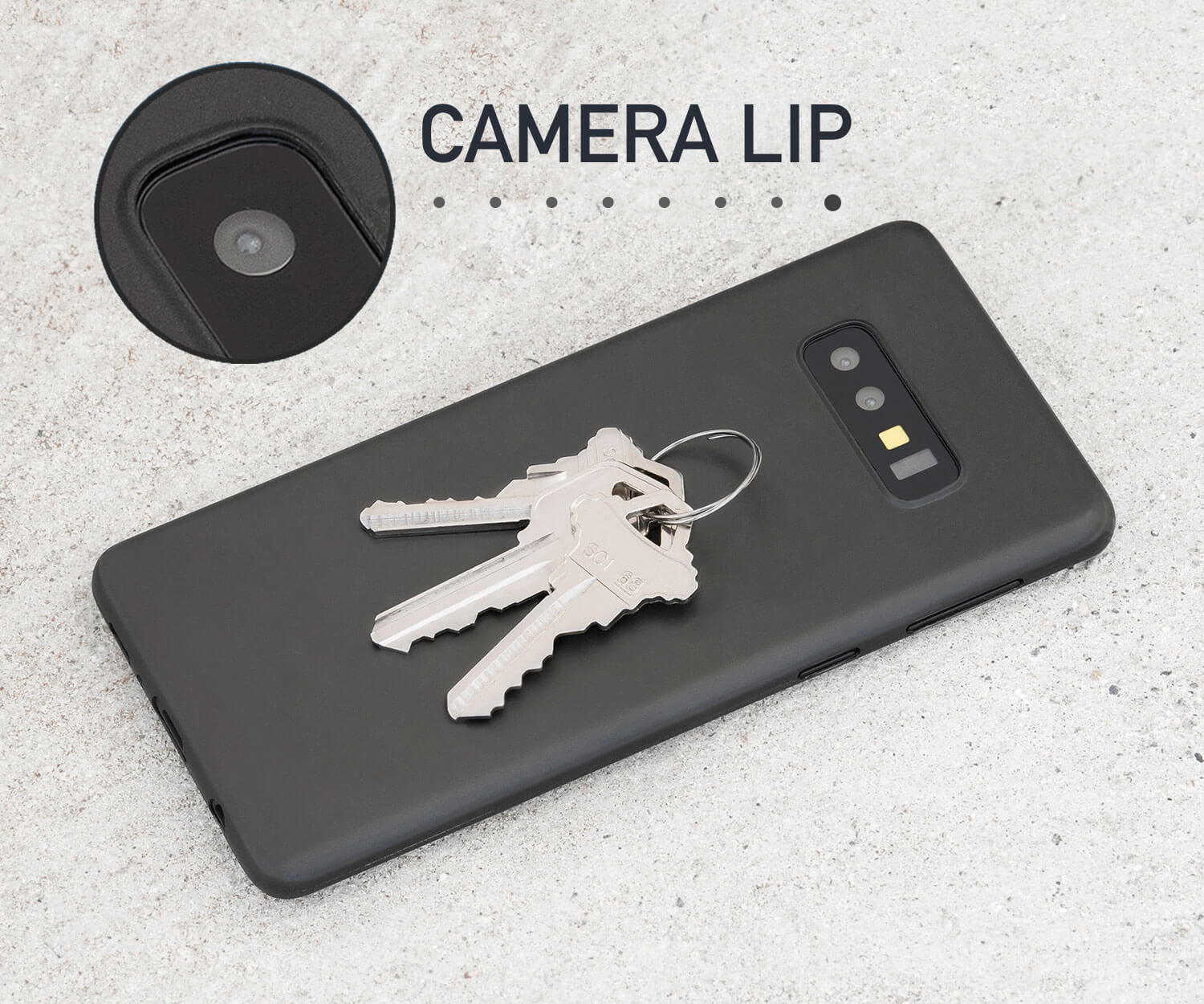 Thin black Galaxy S10e case that adds camera and scratch protection