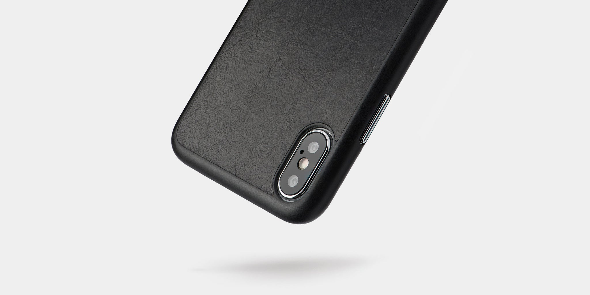 Slim leather iPhone XS case