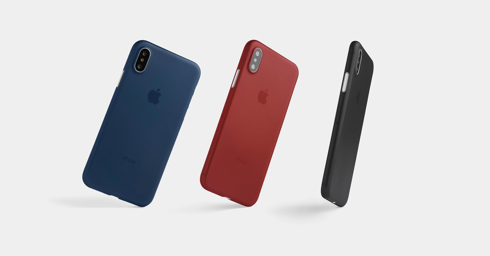 Thin matte iPhone XS cases