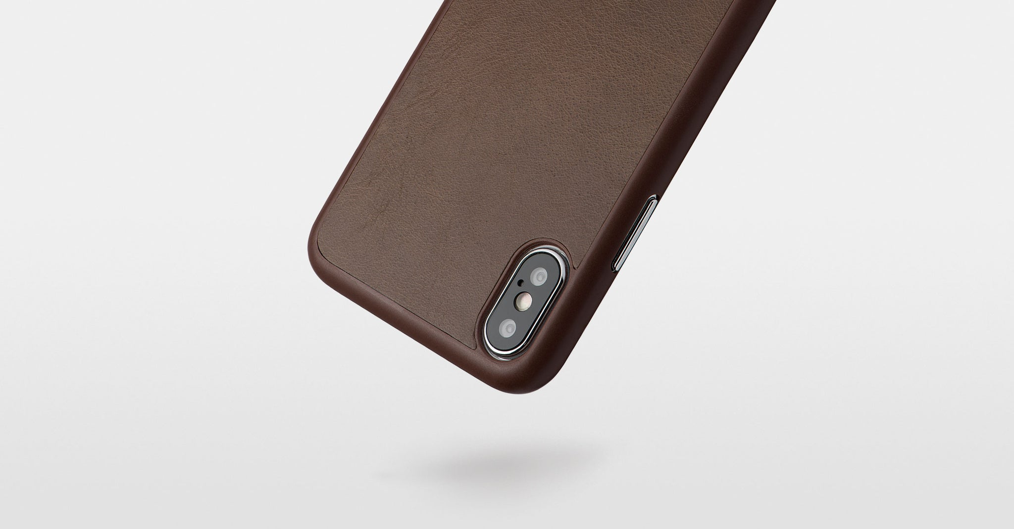 thin mocha leather iphone x case