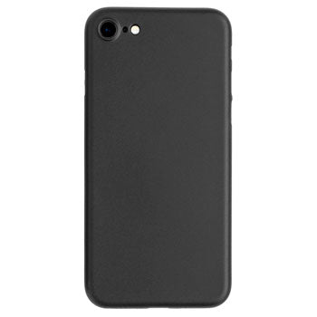 Back view of an ultra thin iPhone case in black for the Jet Black iPhone 7